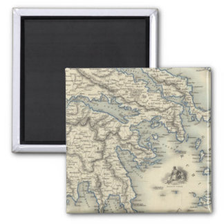 Greece with inset maps of Corfu and Stampalia Magnet