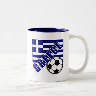 GREECE World Soccer Fan Tshirts Two-Tone Mug
