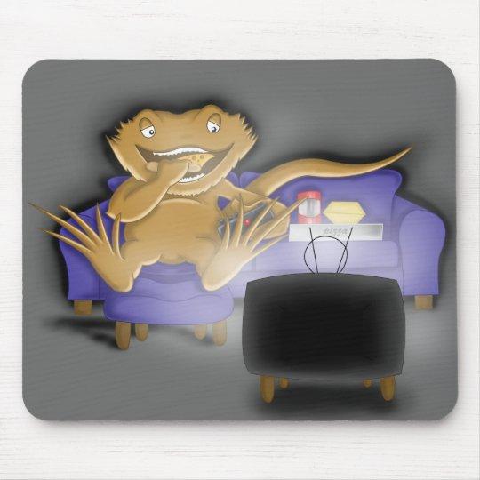 greedy beardie mouse pad
