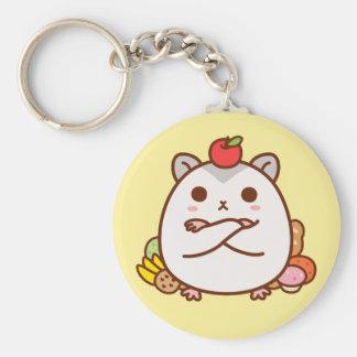 Greedy Hamster Basic Round Button Key Ring