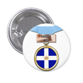 Greek Ace medal button