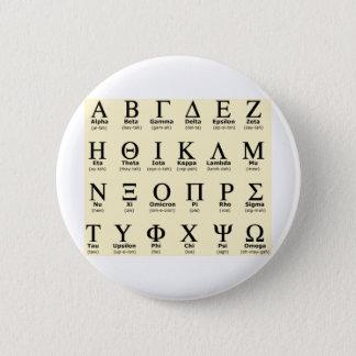 greek alphabet gifts 6 cm round badge