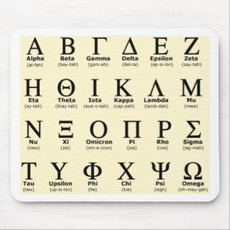 greek alphabet gifts mouse mat