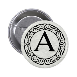 Greek Alphabet Letter Alpha 6 Cm Round Badge