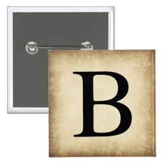 Greek Alphabet Letter Beta 15 Cm Square Badge