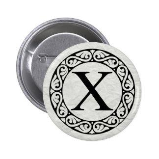 Greek Alphabet Letter Chi 6 Cm Round Badge