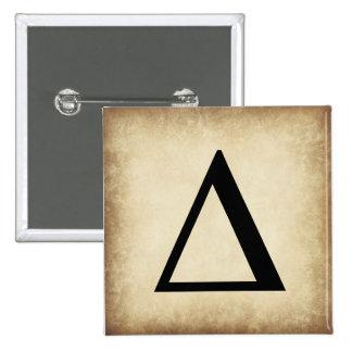 Greek Alphabet Letter Delta 15 Cm Square Badge