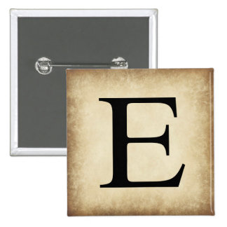 Greek Alphabet Letter Epsilon 15 Cm Square Badge