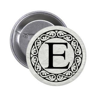 Greek Alphabet Letter Epsilon 6 Cm Round Badge