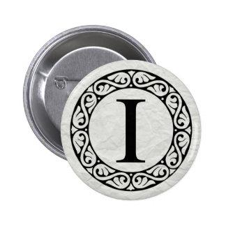 Greek Alphabet Letter Iota 6 Cm Round Badge