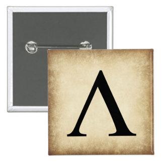 Greek Alphabet Letter Lambda 15 Cm Square Badge