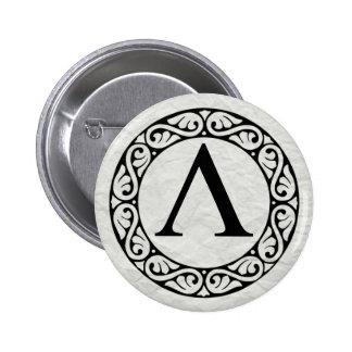 Greek Alphabet Letter Lambda 6 Cm Round Badge