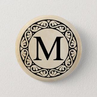 Greek Alphabet Letter Mu 6 Cm Round Badge