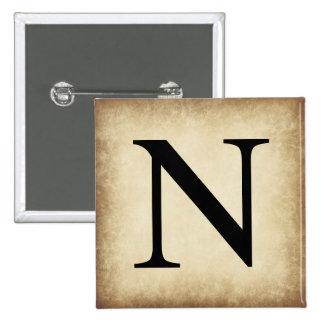 Greek Alphabet Letter Nu 15 Cm Square Badge