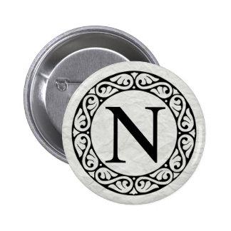 Greek Alphabet Letter Nu 6 Cm Round Badge