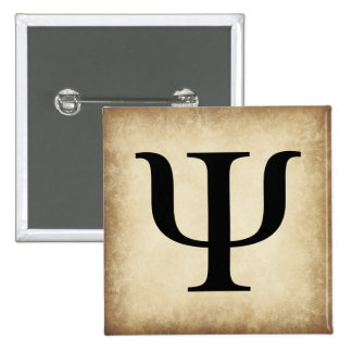 Greek Alphabet Letter Psi 15 Cm Square Badge