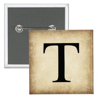 Greek Alphabet Letter Tau 15 Cm Square Badge