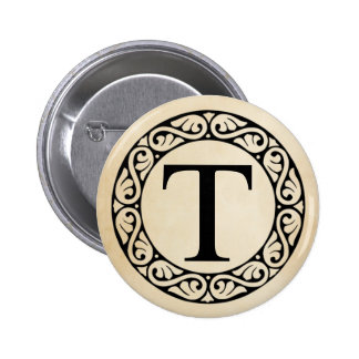 Greek Alphabet Letter Tau 6 Cm Round Badge