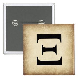 Greek Alphabet Letter Xi 15 Cm Square Badge
