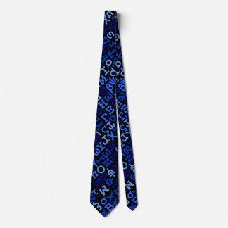 Greek alphabet tie