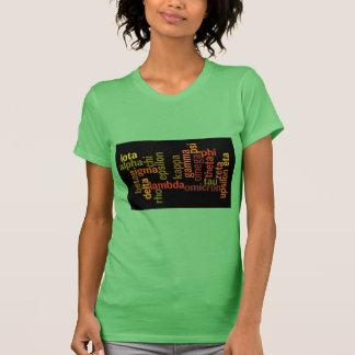 Greek Alphabet (Word Cloud) Tshirt
