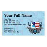 Greek-American Shield Flag Pack Of Standard Business Cards