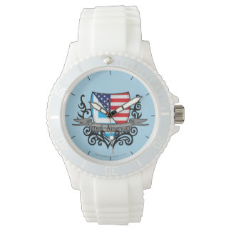 Greek-American Shield Flag Watch