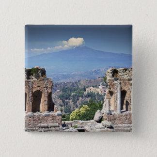 Greek Amphitheatre 2 15 Cm Square Badge