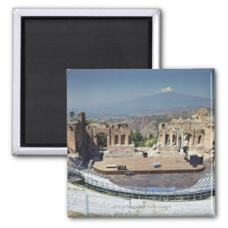Greek Amphitheatre 3 Square Magnet