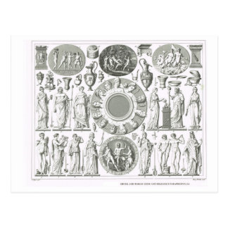 Greek and Roman gods Postcard