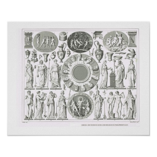 Greek and Roman gods Poster