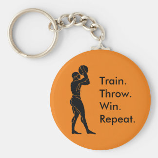 Greek Athlete Basketball Winning Formula Orange Key Ring