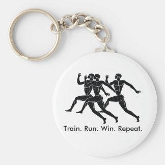 Greek Athlete Sports Running Winning Formula Basic Round Button Key Ring