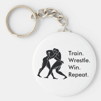Greek Athlete Sports Wrestling Winning Formula Key Ring