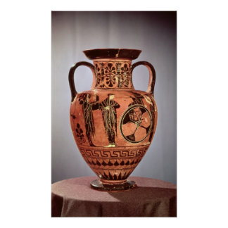 Greek black-figure amphora poster