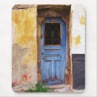 Greek Blue Door - Crete Mouse Mat
