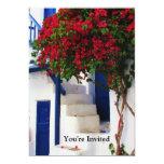 Greek Blue Door - Mykonos, Greece invite 13 Cm X 18 Cm Invitation Card