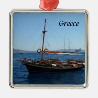 Greek Boat Christmas Ornament