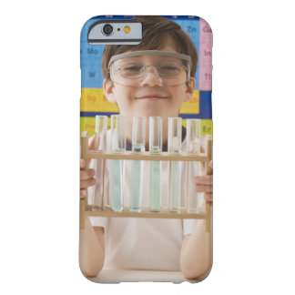 Greek boy holding rack of test tubes barely there iPhone 6 case