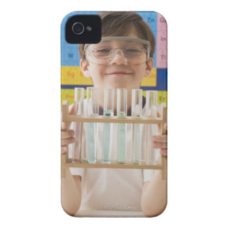 Greek boy holding rack of test tubes iPhone 4 Case-Mate case