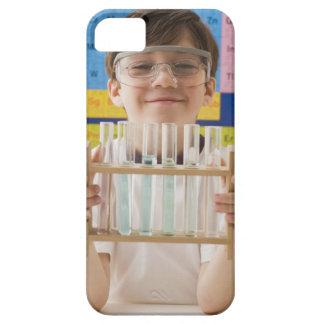 Greek boy holding rack of test tubes iPhone 5 cases