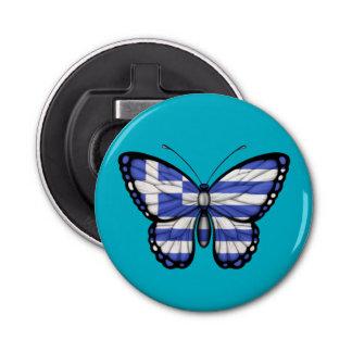 Greek Butterfly Flag Bottle Opener