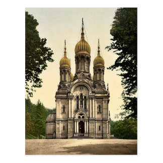 Greek Chapel, Wiesbaden, Hesse-Nassau, Germany cla Postcard