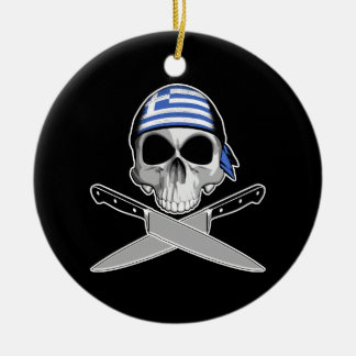 Greek Chef Christmas Ornament