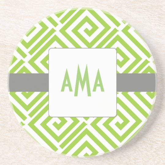 Greek Chic Coaster-Choose Your Colours Coaster