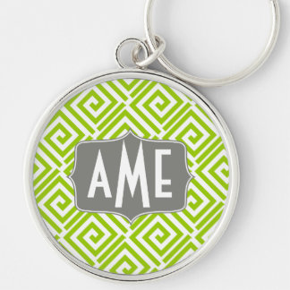 Greek Chic Monogram Keychain Customizable