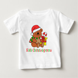 Greek Christmas Bear Baby T-Shirt