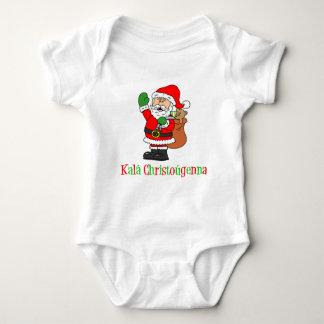 Greek Christmas Santa Baby Bodysuit
