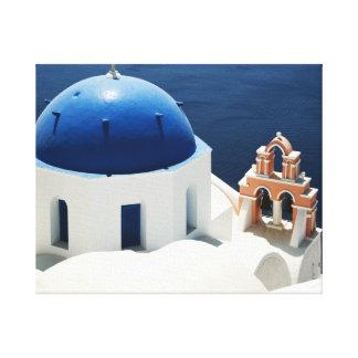 Greek Church Gallery Wrap Canvas