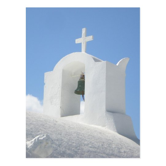 Greek Church in Santorini Postcard